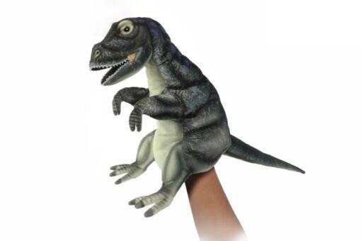Mooie Oranje Spinosaurus handpop goudgeel knuffel  42 cm kopen