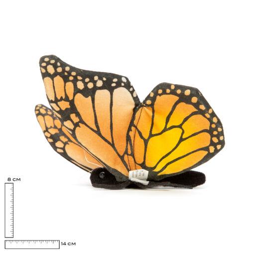 Mooie Gele Monarchvlinder beige/geel .W knuffel  14 cm kopen