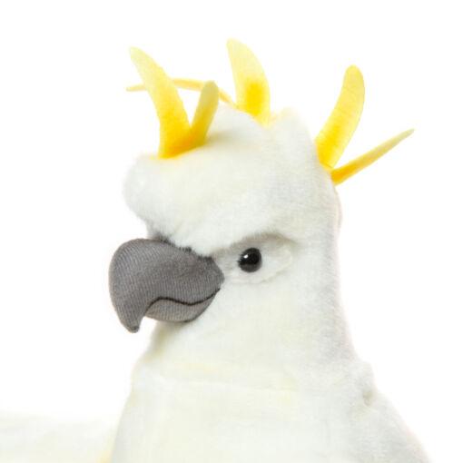 Mooie Witte Kaketoe handpop knuffel  43 cm kopen