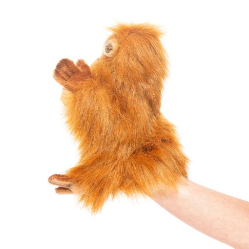 Mooie Roodbruine Orang-oetanjong handpop knuffel  25 cm kopen