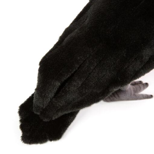 Mooie zwarte kraai knuffel  31 cm kopen