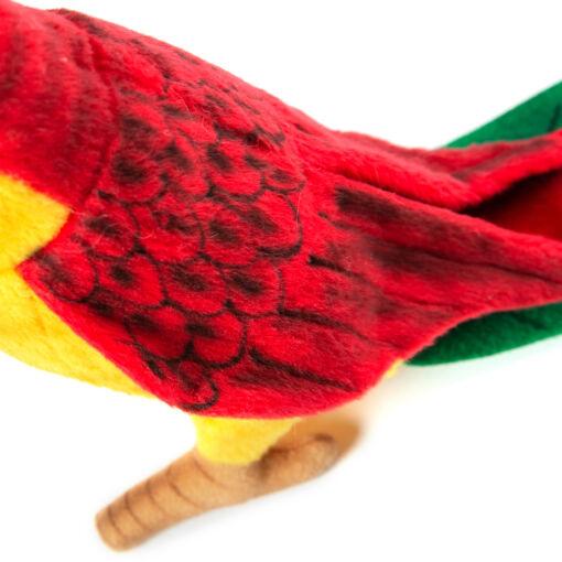 Mooie Rode Papegaai geel lijf klein schattig aaibare pluche lieve knuffel  37cm   kinderkamer  geboorte kopen