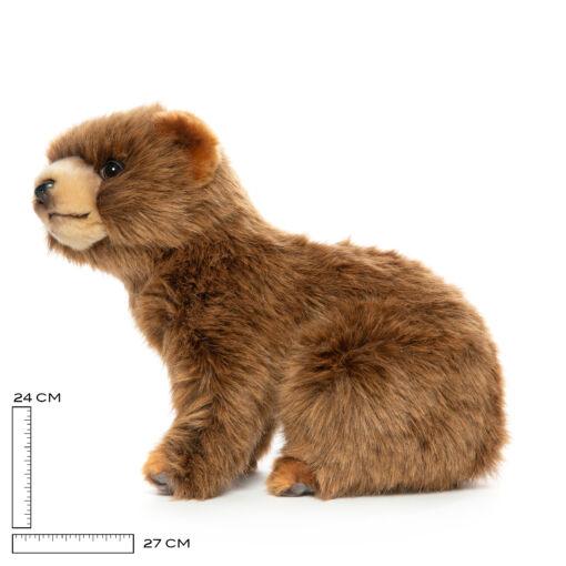 Mooie Licht bruine  beer welp . H knuffel  25 cm kopen
