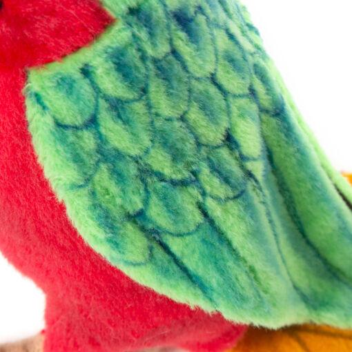 Mooie Groene Papegaai rood lijf knuffel  37 cm kopen