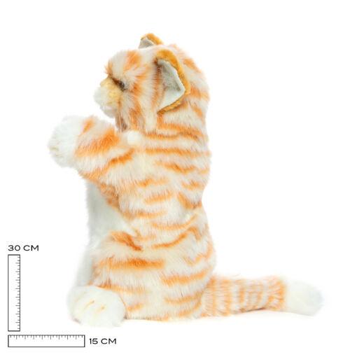 Mooie Witte Rode kat handpop knuffel  30 cm kopen