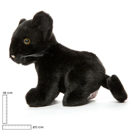 Mooie zwarte panter welp knuffel  18 cm kopen