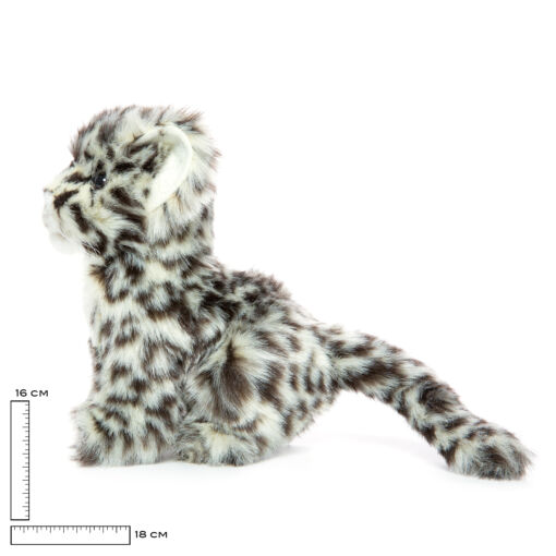 Mooie Zwarte Sneeuwpanter welp knuffel  18 cm kopen