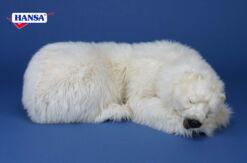 Mooie 1 slapende mama ijsbeer met 1 staand jong, incl kerstsneeuw, - ballen, besneeuwde kerstslinger en kerstverlichting. 202111 lxbxh = xxcm kopen